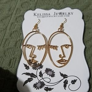 Picasso Style Earrings